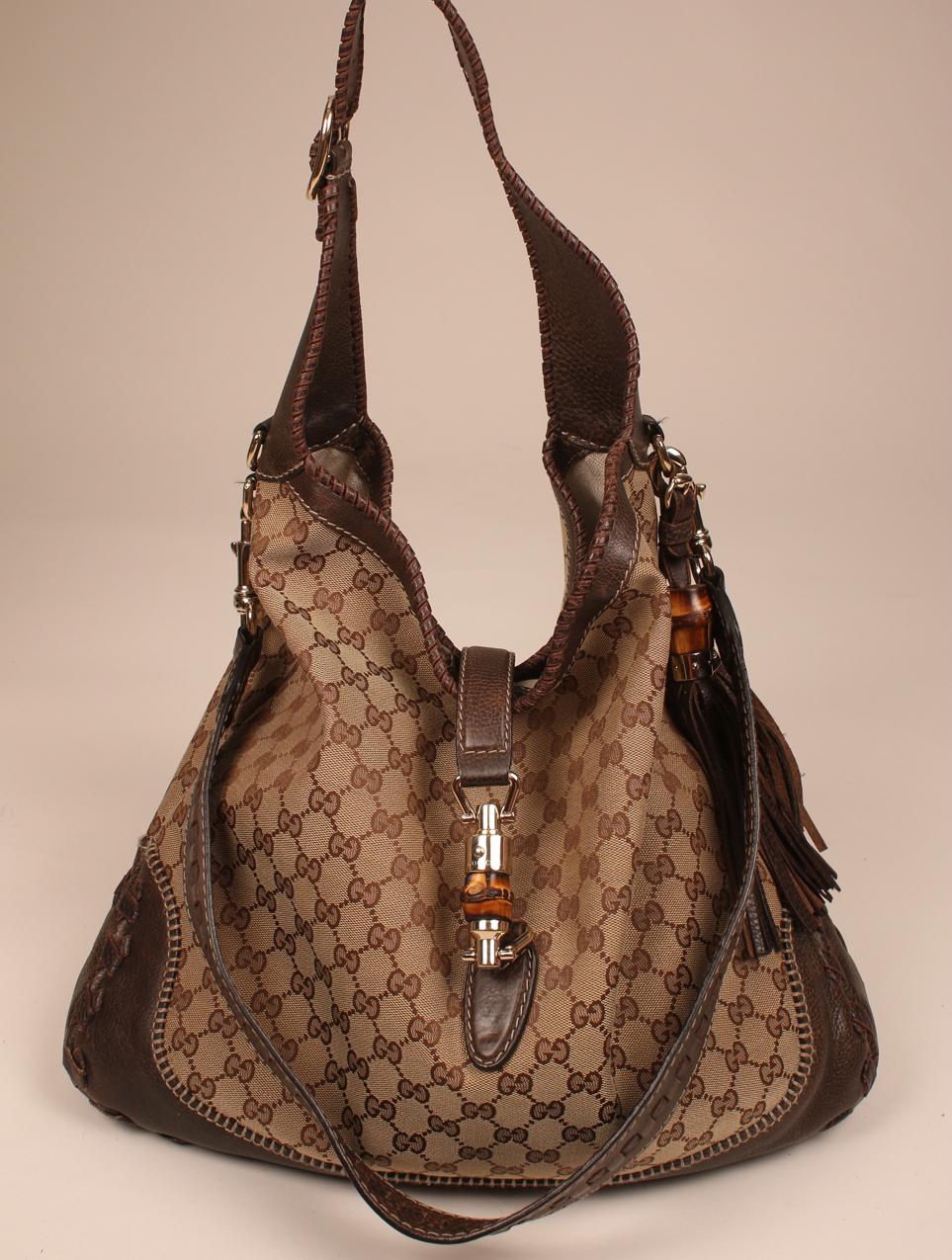 jalkineet lähemmäs Alin hinta Gucci Jackie hobo-laukku / Gucci canvas GG monogram Jackie bag
